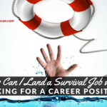 How Can I Land a Survival Job while Looking for a Career Position?