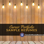 Career Portfolio Sample Resumes